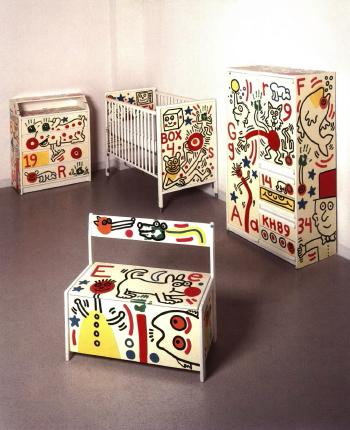 Keith Haring-Keith Haring - Set of Children's Furniture-1989