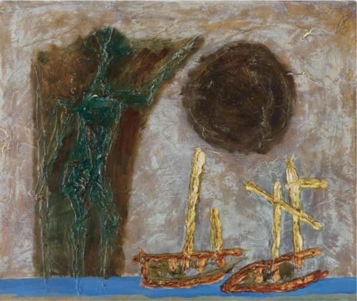 Maqbool Fida Husain-White Boats-1964