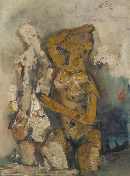 Maqbool Fida Husain-Rani-1962