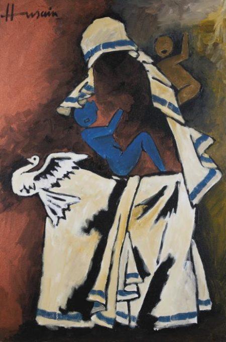 Maqbool Fida Husain-Untitled (Mother Theresa)-