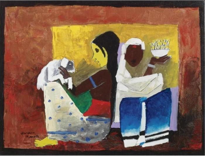 Maqbool Fida Husain-Harvest Ritual-1980