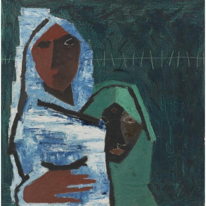 Maqbool Fida Husain-Untitled (Figures)-