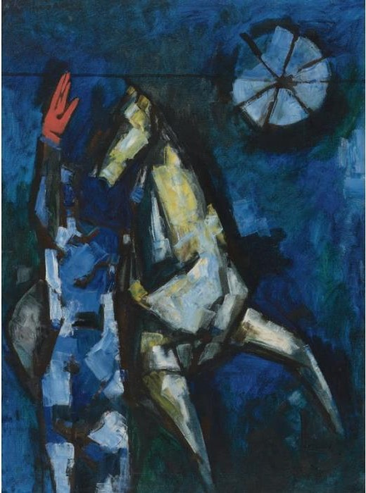 Maqbool Fida Husain-The Horse That Raised A Red Palm-