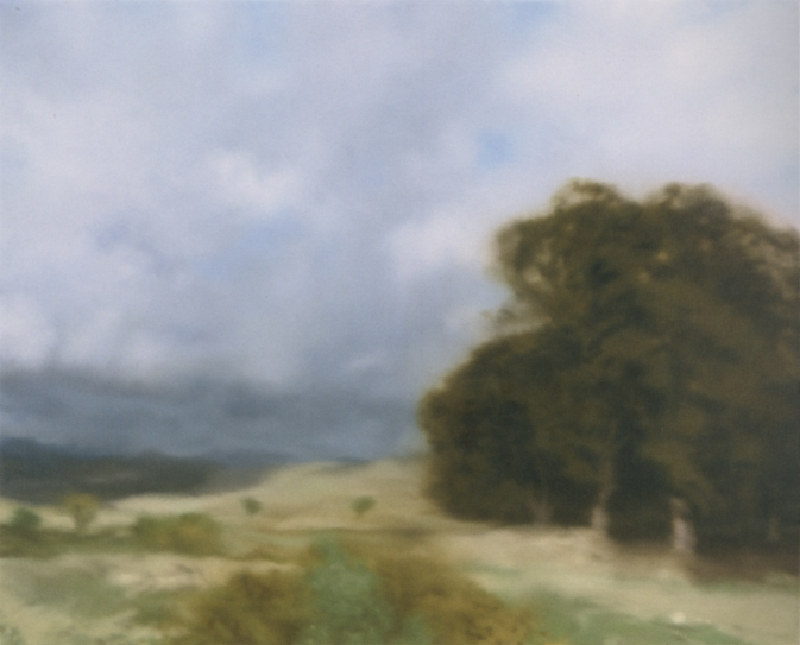 Gerhard Richter-Landschaft mit Baumgruppe (Landscape with Grove of Trees)-1970