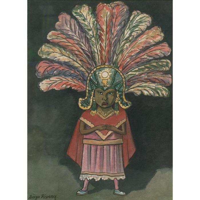 Diego Rivera-Danzante-1948