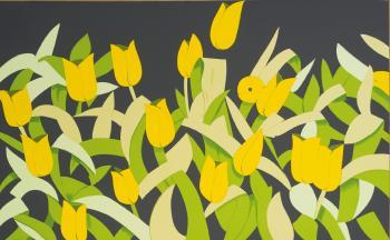 Alex Katz-Tulips / Yellow Tulips-2014