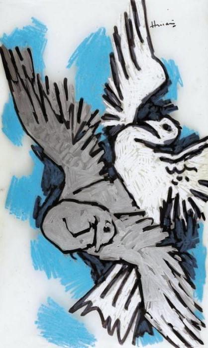 Maqbool Fida Husain-Doves-