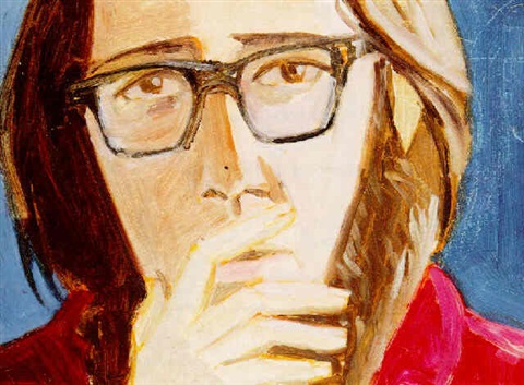 Alex Katz-Portrait of Ted Berrigan-1967