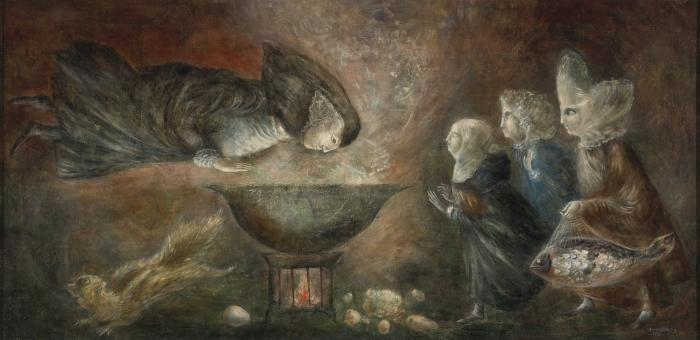 Leonora Carrington-Santa teresa en la cocina-1958