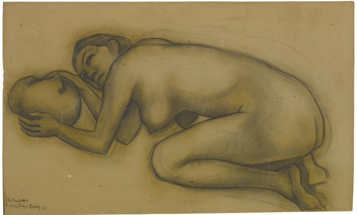 Diego Rivera-Desnudo-1943