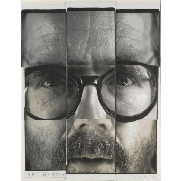 Chuck Close-9 Part Self Portrait-1987