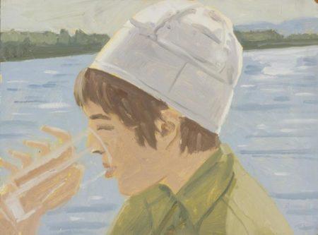 Alex Katz-Vincent Drinking, Study II-1970