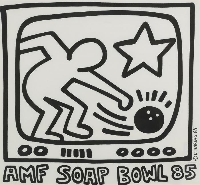 Keith Haring-Keith Haring - Untitled (Amf Soap Bowl 85)-1984