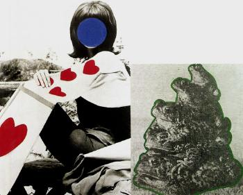 John Baldessari-Woman with Heart(s) and Frogs-1989