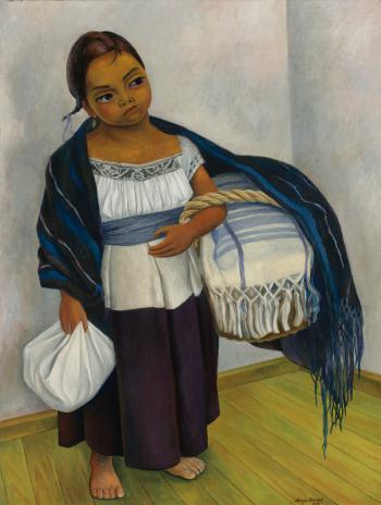Diego Rivera-Nina En Azul y Blanco (Retrato De Juanita Rosas a Los Diez Anos De Edad)-1939