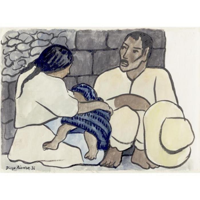 Diego Rivera-Familia de indios-1936