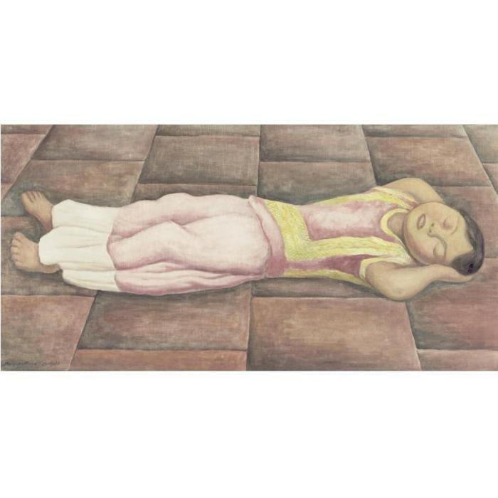 Diego Rivera-La Nina Durmiendo (Sleep)-1936