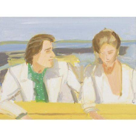 Alex Katz-Rackstraw and Pamela (Study)-1976