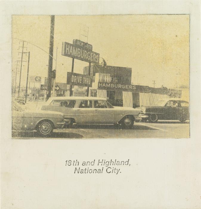 John Baldessari-18th and Highland, National City-1967