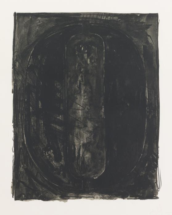 Jasper Johns-Figure 0, from Black Numeral Series-1968