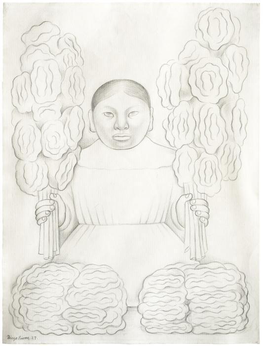 Diego Rivera-Vendedora de flores-1927
