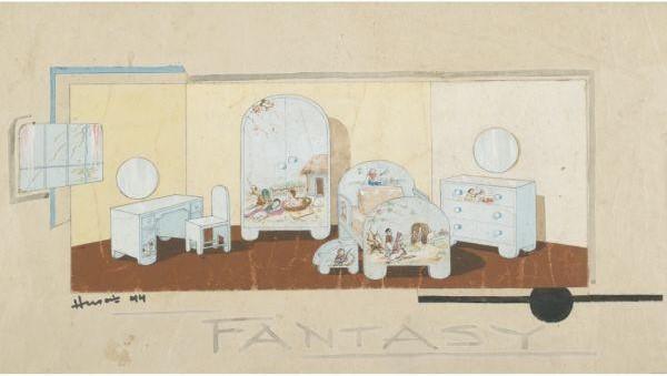 Maqbool Fida Husain-Fantasy-1944