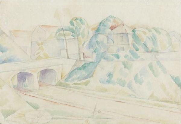 Diego Rivera-Le pont d'Arcueil-1918