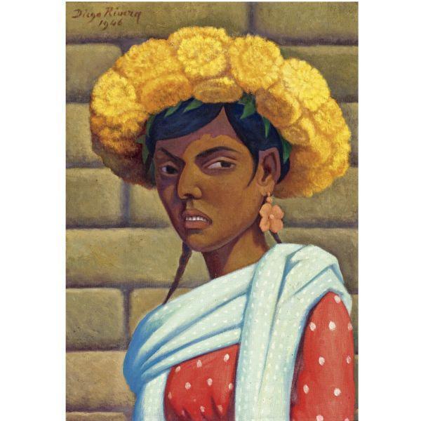 Diego Rivera-Peregrina Tlaxcalteca-1946