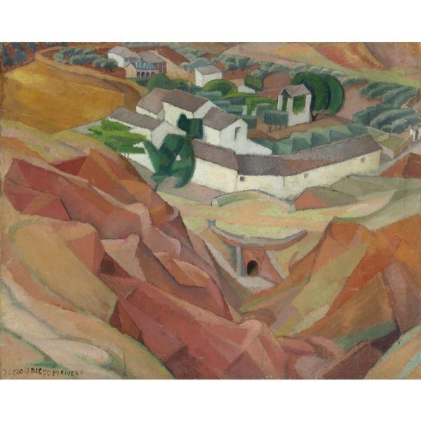 Diego Rivera-The Old Hamlet, Toledo-1913