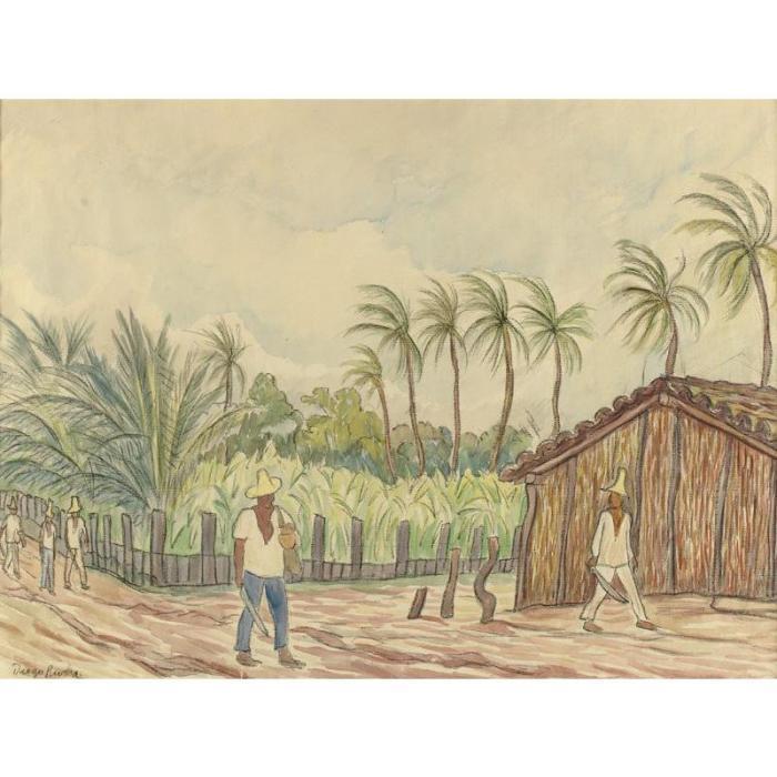 Diego Rivera-Granja Palmera-1935