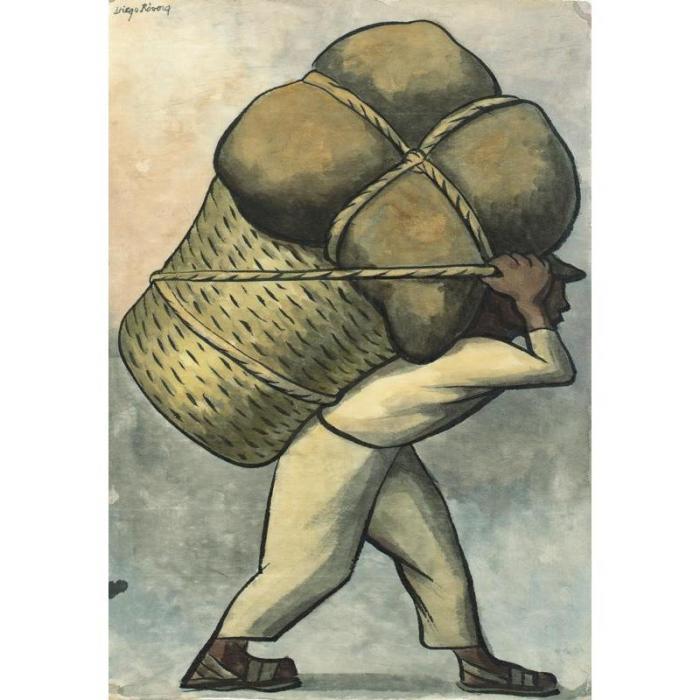 Diego Rivera-El cargador-