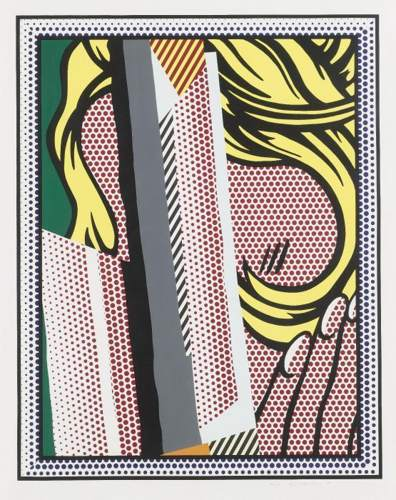 Roy Lichtenstein-Reflections on Hair (from the Relections series)-1990