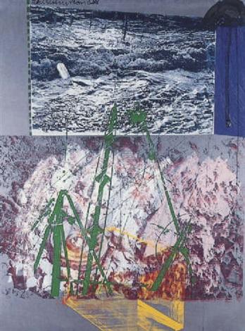 Robert Rauschenberg-Robert Rauschenberg - Yard Sail (Galvanic Suite)-1988