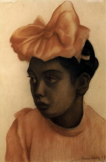 Diego Rivera-Retrato de nina-1937