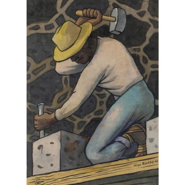 Diego Rivera-El Picapedrero-1944