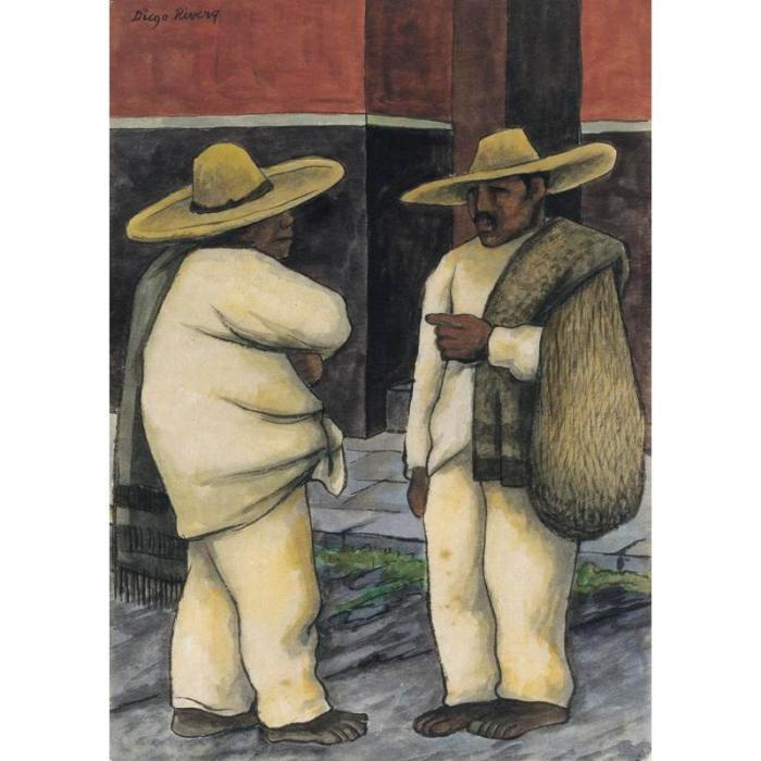 Diego Rivera-Dos hombres-1935
