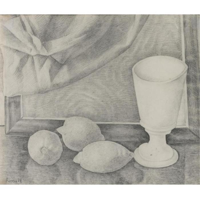 Diego Rivera-Naturaleza muerta con limones-1918