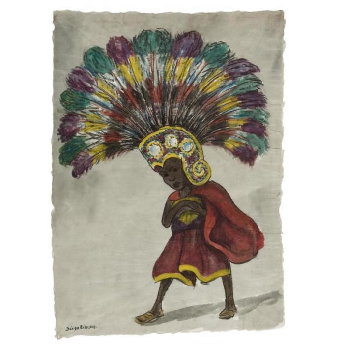 Diego Rivera-Danzante-1940