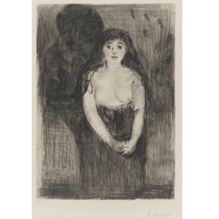 Edvard Munch-Study of a Model / Modellstudie (Woll 8; Schieffler 9)-1894