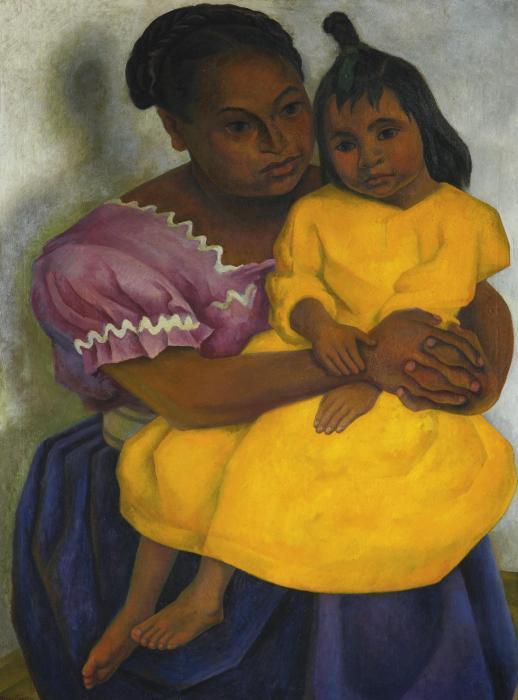 Diego Rivera-Madre y Nina-1939