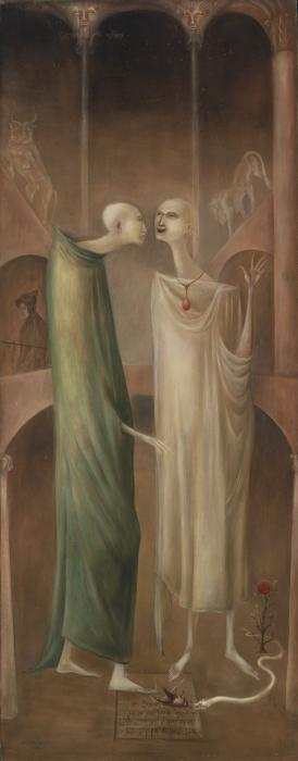 Leonora Carrington-The Magus Zoroaster Meeting His Own Image In The Garden (1960)-1960