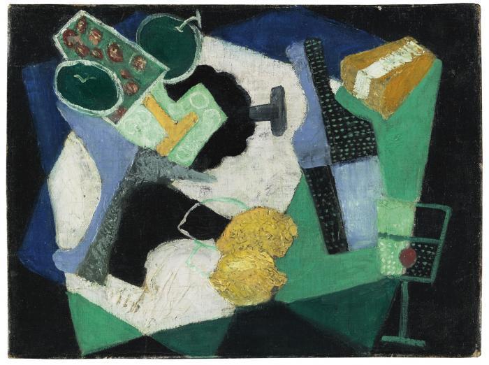 Diego Rivera-Naturaleza Muerta con Limones-1916
