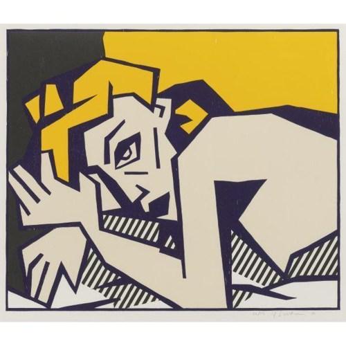 Roy Lichtenstein-Reclining Nude-1980