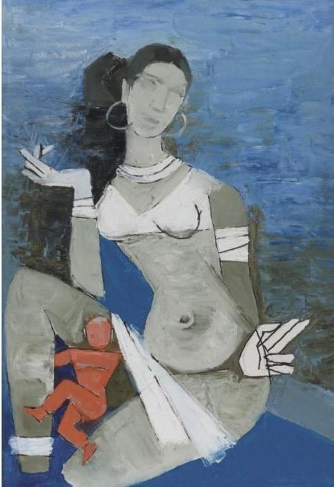 Maqbool Fida Husain-Birth of Chitrakoot-1977