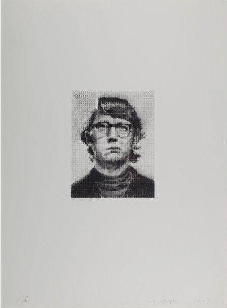 Chuck Close-Keith III - State I-1974