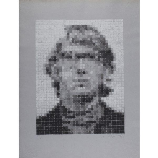 Chuck Close-Keith IV (Manipulated/Pressed)-1981