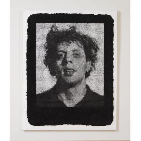 Chuck Close-Phil III, Black (Butler Institute 25)-1982
