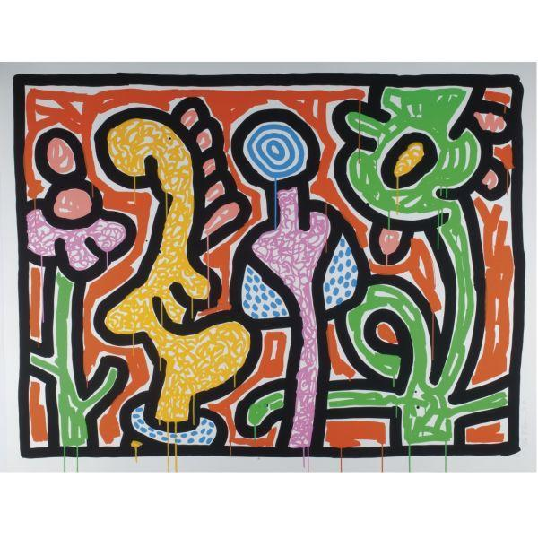 Keith Haring-Keith Haring - Flowers-1990