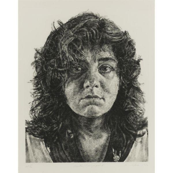 Chuck Close-Marta, Fingerprint (Butler Institute 44)-1986