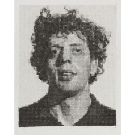 Chuck Close-Phil I, White (Butler Institute 23)-1982